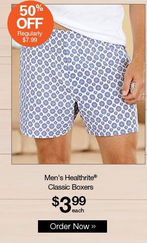 Shop Men's Healthrite® Classic Boxers