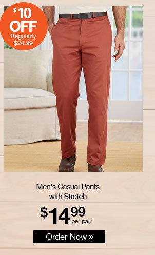 Shop Men's Casual Pants with Stretch