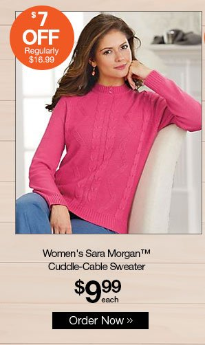 Shop Women's Sara Morgan™ Cuddle-Cable Sweater