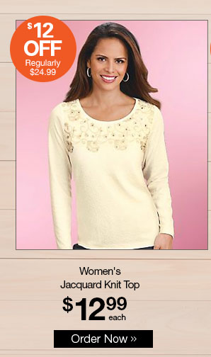 Shop Women's Jacquard Knit Top