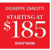 Giuseppe Zanotti Starting  At $185