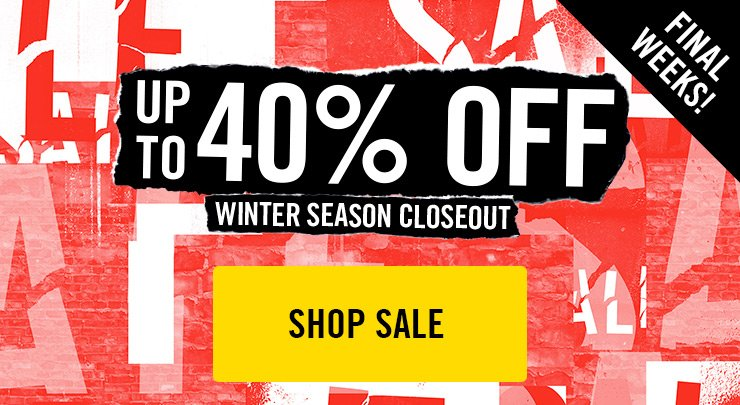 Up to 40% Off - Winter Season Closeout - Shop Now