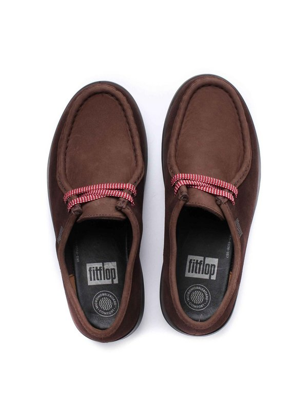 FitFlop Womens Loaff Lace Up Moc Shoes - Chocolate Brown