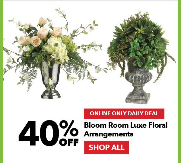 Online Only Daily Deal. 40% off Bloom Room Luxe Floral Arrangements. Shop All.