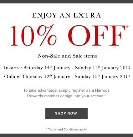 10% off* weekend* fashion