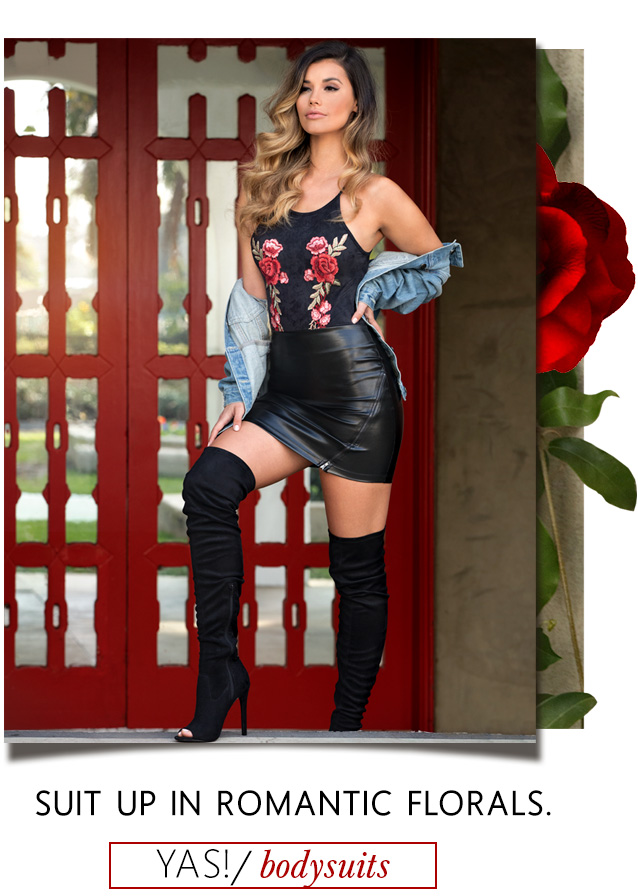 Suit Up In Romantic Florals.