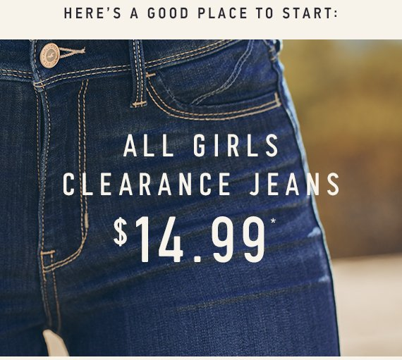All Girls Clearance Jeans $14.99 Online Only*