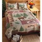 Moose Lodge Quilt Set, 3 Pieces