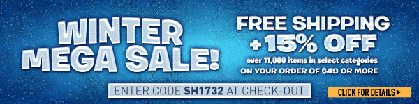 Sportsman's Guide's Winter Mega Sale + Free Standard Shipping & 15% Off over 11,000 items with your Merchandise Order of $49 or more! Enter Coupon Code SH1732 at check-out. *Exclusions apply, see details.