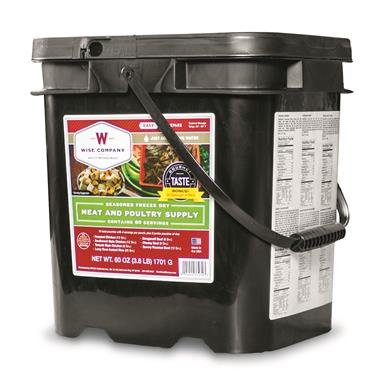 Wise Company Freeze Dried Meat & Poultry Bucket, 60 Servings