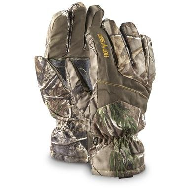 Hot Shot Men's Camo Hunting Gloves, Waterproof, 2 Pack