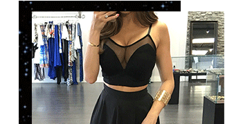 Black Two-piece Skirt Set