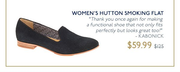 WOMEN'S HUTTON SMOKING FLAT - ON SALE $59.99