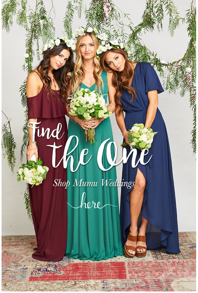 618955659551 Show Me Your Mumu: Sparkle in jewel toned bridesmaids dresses | Milled