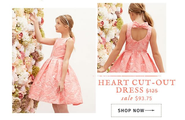 Heart Cut-Out Dress on sale $93.75 (was $125). Shop Now