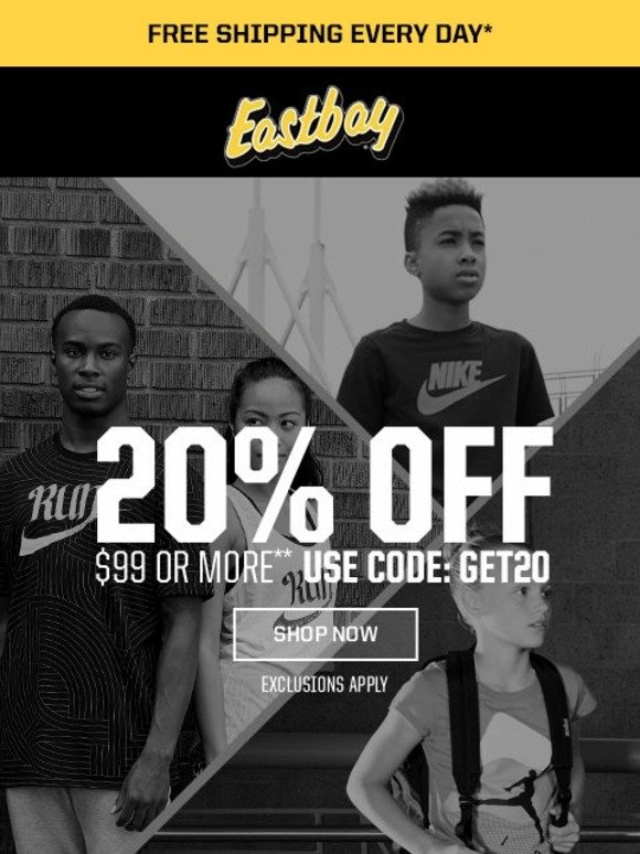 d1ee0dc48196 Eastbay  Want Early Access  Here s 20% Off!