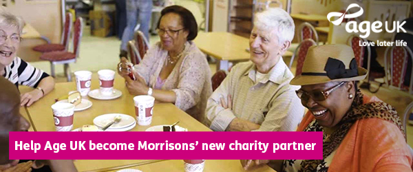 Help Age UK become Morrisons' new charity partner