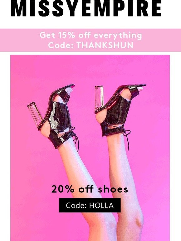 2a90f4e99d Missy Empire: Walk the walk with 20% off shoes | Milled