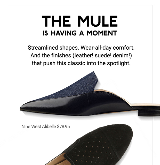 DSW: (Re)introducing the mule. | Milled