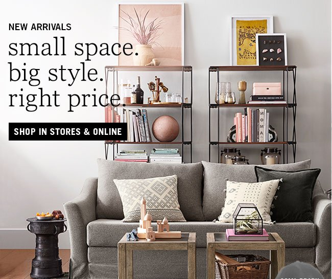 Pottery Barn: Small Space ✓ BIG style ✓ Right Price ✓ our NEW ...