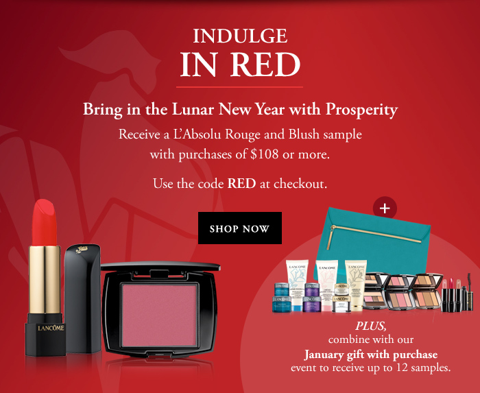 INDULGE IN RED - Bring in the Lunar New Year with Prosperity - SHOP NOW