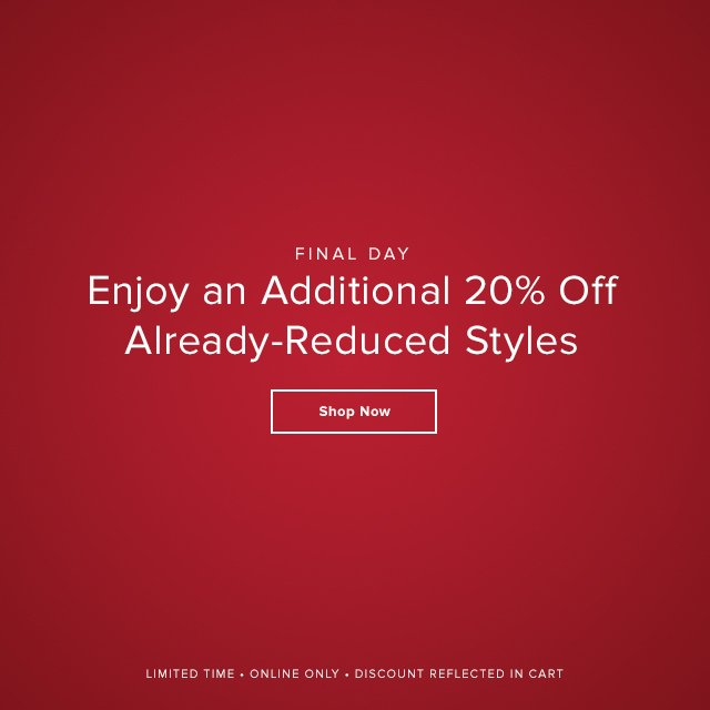 Additional 20% off