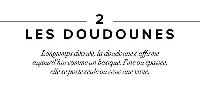 Les doudounes