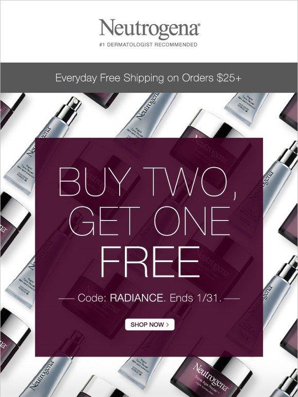 Neutrogena: Get Glowing! Buy 2, Get 1 Free | Milled