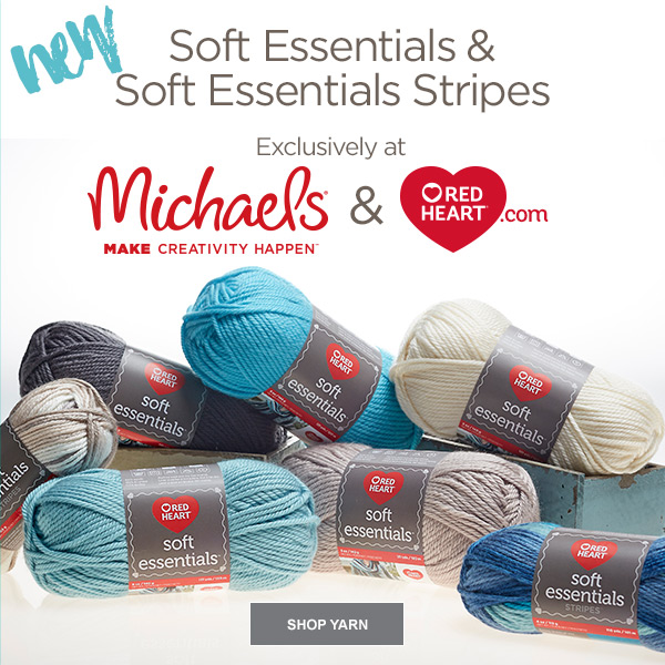 Red Heart New Soft Essentials Yarn In 21 Colors Milled