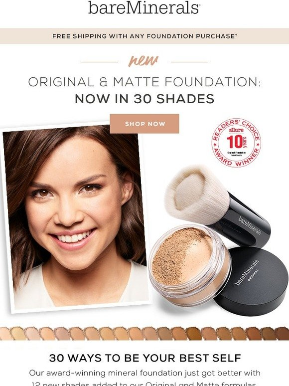 bareMinerals: Just launched: new shades for our best-selling foundations | Milled