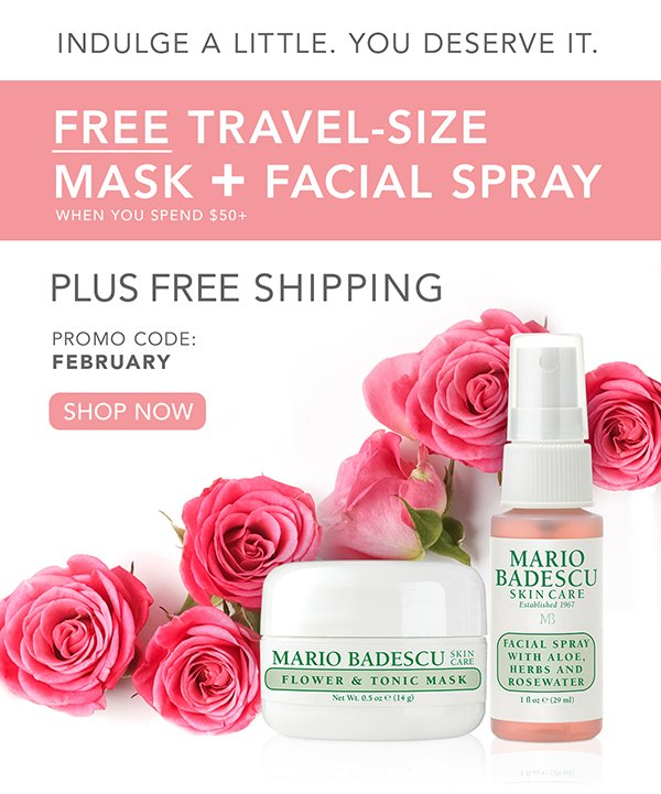 Mario badescu skin care treat yourself to a free mask mist duo you deserve it free travel size mask facial spray solutioingenieria Gallery