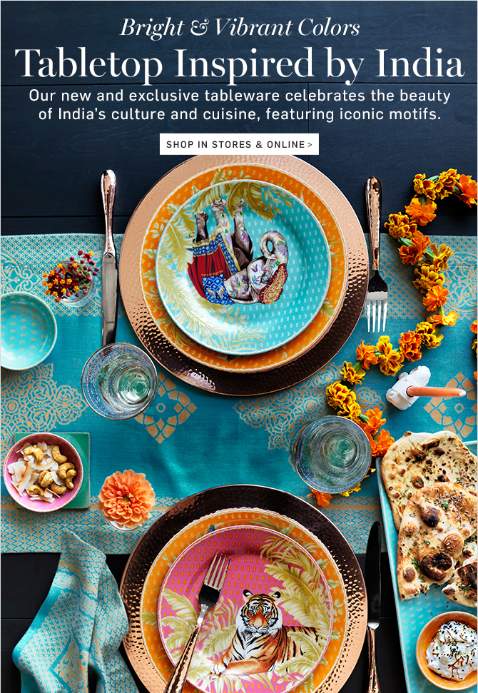 Tabletop Inspired by India - SHOP IN STORES \u0026 ONLINE & Williams-Sonoma: Our Latest Collection Inspired by India + OUTLET ...