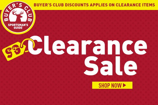guide clearance sportsman markdowns added milled items sportsmans deals
