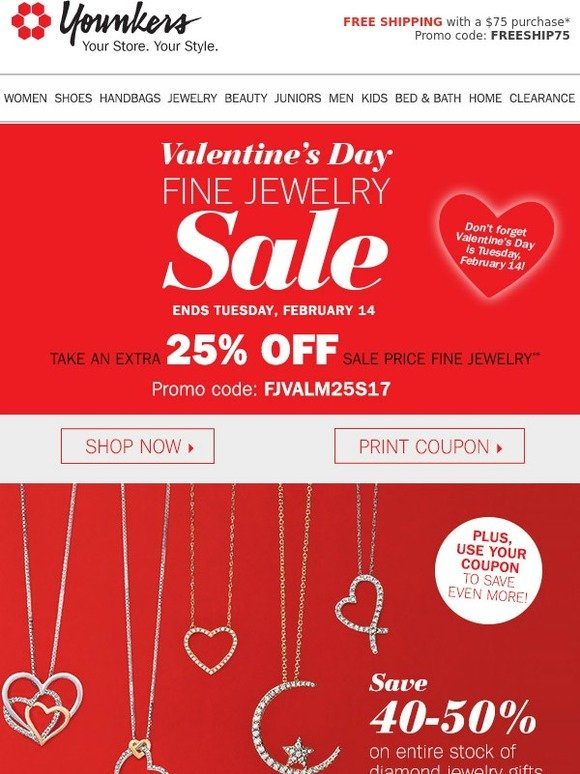 c12fcd212 Younkers: Fine Jewelry Sale • Get the perfect Valentine's Day gift ...