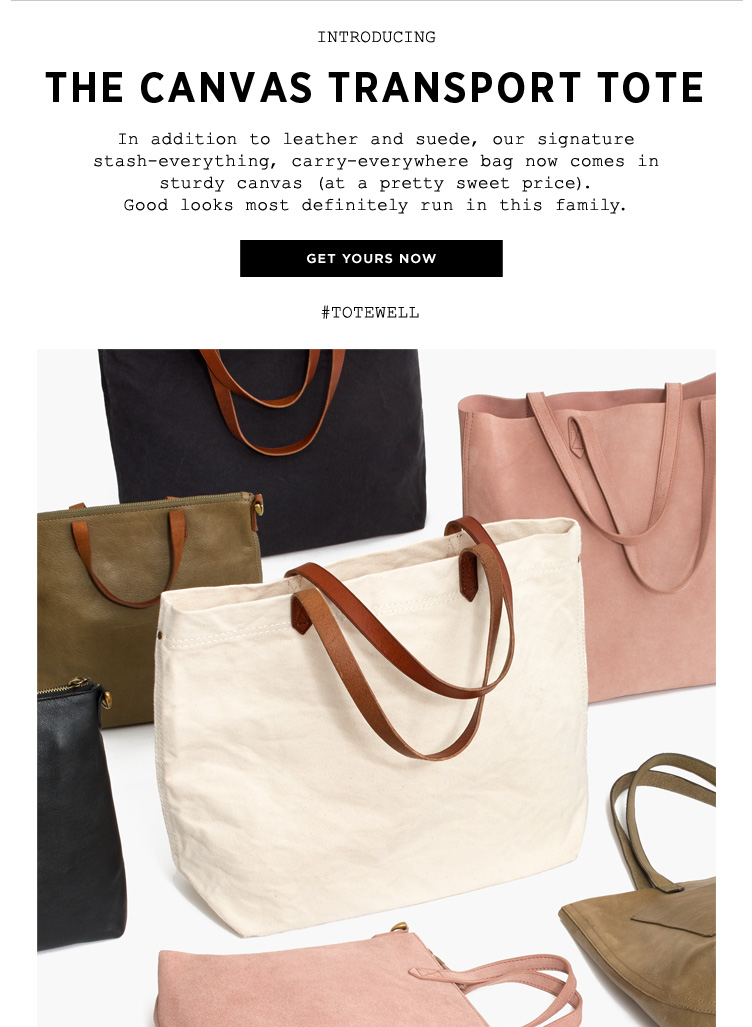 Madewell UK  Introducing The Canvas Transport Tote  aea773a112db2