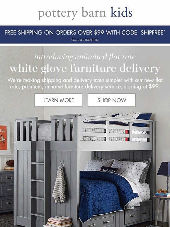 Pottery Barn Kids Monday Pick Me Up New Flat Rate Furniture Delivery Is Here Milled