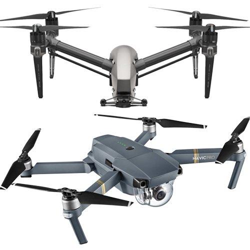 Inspire 2 & Mavic Pro Quadcopters