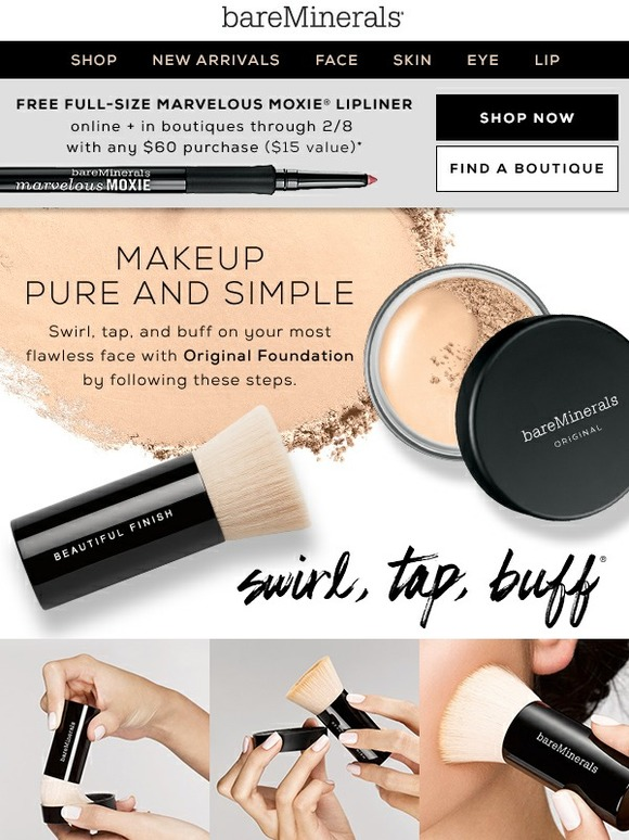 bareMinerals: Swirl, tap, buff like a pro | Milled