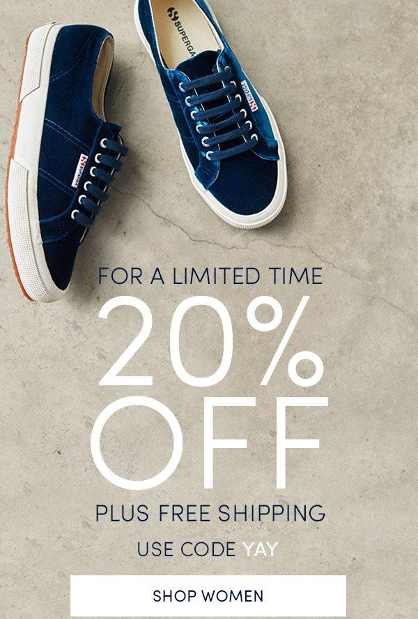20% Off! Shop Women