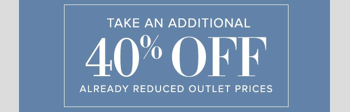 Frontgate: 2-day Outlet Sale: Extra 40% off already ...