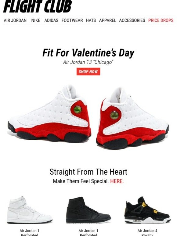 Flight Club New York  Fit for Valentine s Day  Air Jordan 13 Chicago ... bbf97a34a4