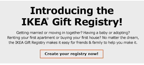 IKEA: Good news, -The IKEA Gift Registry is here   Milled