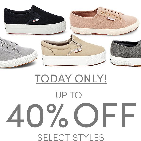 Today Only! Up to 40% Off plus Free Shipping