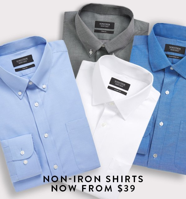 NON-IRON SHIRTS NOW FROM $39