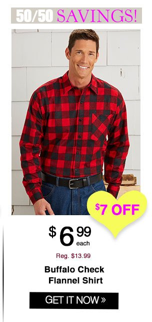 Shop Buffalo Check Flannel Shirt