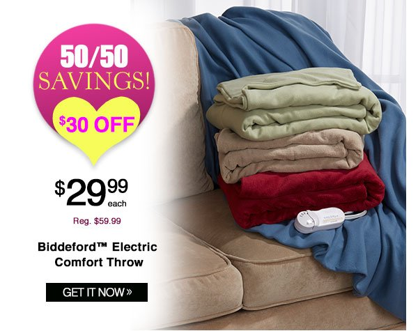 Shop Biddeford? Electric Comfort Throw