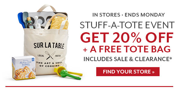 Stuff-A-Tote-Event (Get 20% off + a free tote bag)