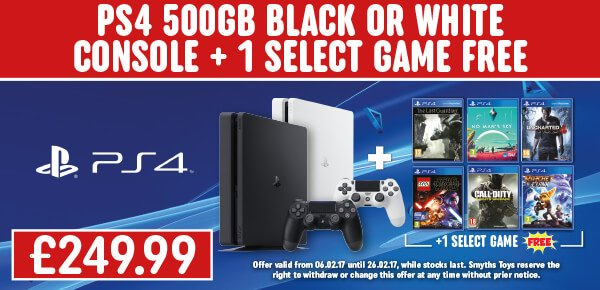 PS4 500GB Slim Console + Select Game