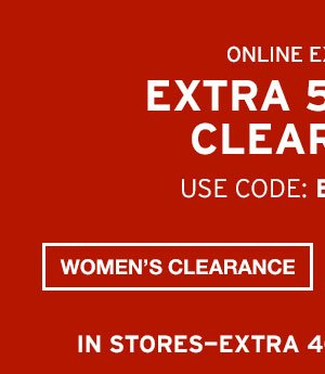 EXTRA 50% OFF CLEARANCE | WOMEN'S CLEARANCE