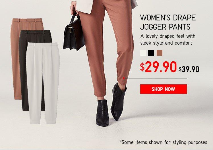 Women's Drape Jogger Pants